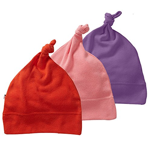 Babysoy Eco Essential 3-Piece Single Knot Beanie Hat Set