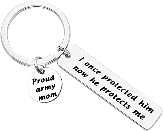 Army Wife Red Friday Support Navy Mom USMC Mom Personalized Military Keychain Deployment Gifts USAF Girlfriend Military Accessories