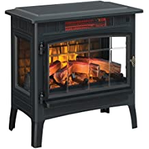 Duraflame DFI-5010-01 Infrared Quartz Fireplace Stove with 3D Flame Effect, Black