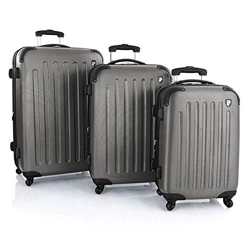 Frameless Expandable Luggage Set - Heys Revolver 3 Piece Spinner Luggage Set Pewter