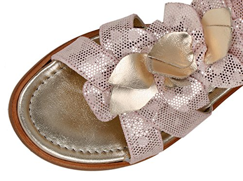 Zecchino dOro - Sandalias de vestir de Piel para niña Pink (glitzerrosa 6254)