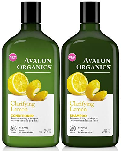 (Avalon Organics Clarifying Lemon, DUO Set Shampoo + Conditioner, 11 Ounce, 1 Each)