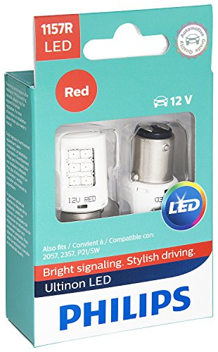 Philips 1157 Ultinon LED Bulb (Red), 2 ()