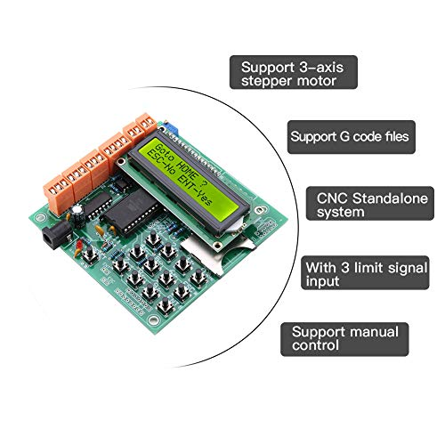Stepper Motor Driver 100-240V,3 Axis Stand-Alone CNC Stepper Motor Controller Support G Code Files