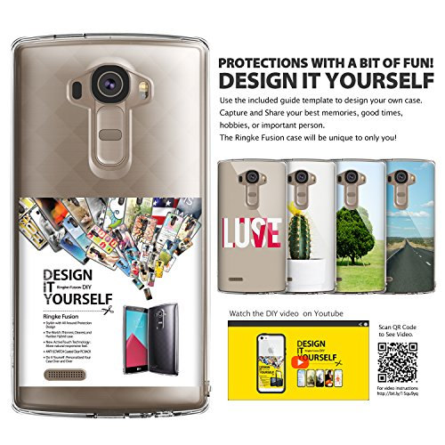 Ringke [Fusion] Compatible with LG G4 Case Crystal Clear PC Back TPU Bumper with Screen Protector [Drop Protection, Shock Absorption Technology][Attached Dust Cap] for LG G4 - Smoke Black by Ringke (Image #8)