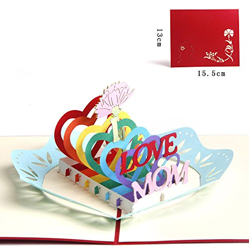 Paper Spiritz Upgrated Thank You Greeting Card for Mom Pop up Card for Her Him Handmade Birthday Card Laser Cut with Envelope Best Wishes Anniversary Gift Postcard