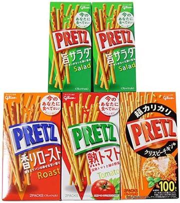 グリコ お試しセット プリッツ食べ比べ (4種・計5コ) セット おかしのマーチ
