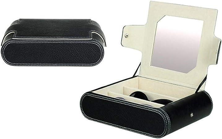 WGFW Caja De Cuero para Gafas Estuche para Guardar Y Exhibir Gafas/Relojes/ Joyas/Anteojos Caja De Almacenamiento 3 Compartimentos 250 * 185 * 65mm: Amazon.es: Hogar