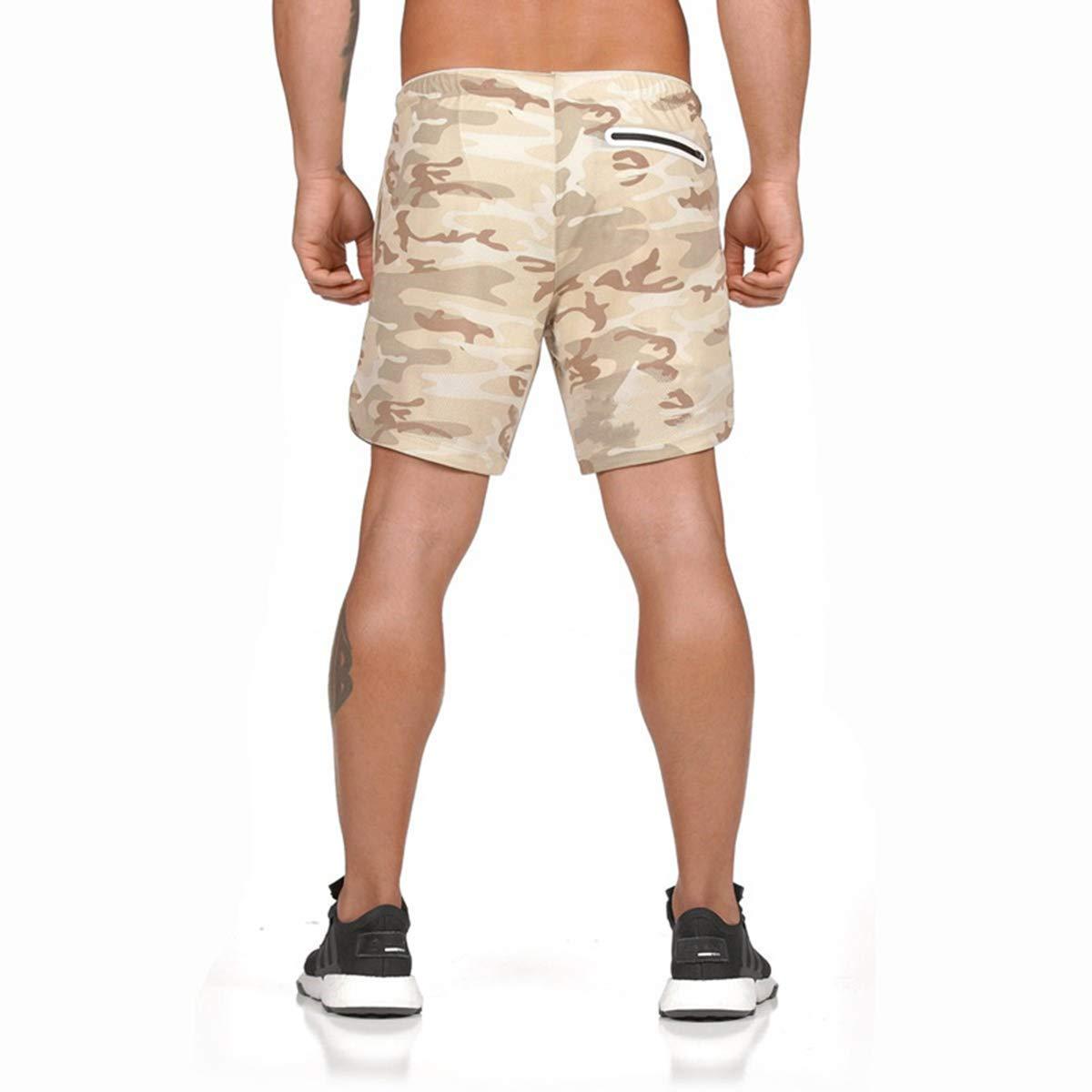Pantalones Cortos de Deporte para Hombre de Secado r/ápido Correr y Entrenamiento Fitness para Correr Yidarton para Verano con Bolsillos