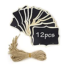 """Package included: 12PCS mini chalkboards(double side)Specification:  Material:wood ; Color:black Size(L*W):8.5x6cm/3.35x2.36"""" Suitable for party decoration, weddings, garden,restaurants, shop,hotel, DIY crafts,plants, place cards and labeling..."""