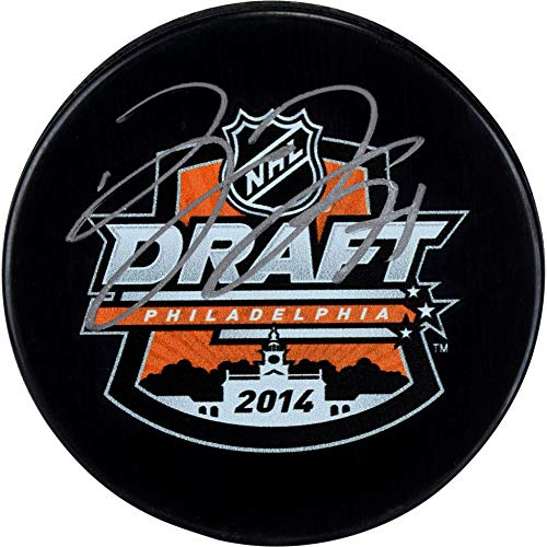 Dylan Larkin Detroit Red Wings Autographed 2014 NHL Draft Logo Hockey Puck - Fanatics Authentic Certified