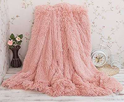 Soffte Cloud Super Soft Long Shaggy Warm Plush Fannel Blanket Throw Qulit Cozy Couch Blanket for Winter