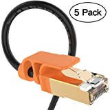 Ethernet Cable 3FT, VANDESAIL 5Pack Strengthened Premium CAT7 Patch Cable RJ45 Shielded SSTP LAN Network Cord Gold Lead for Switch/Router/Modem/Patch Panel