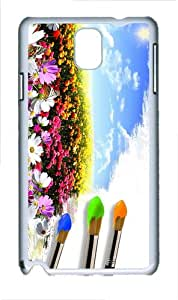 case protective covers Painting Flower Field PC White case/cover for Samsung Galaxy Note 3 N9000