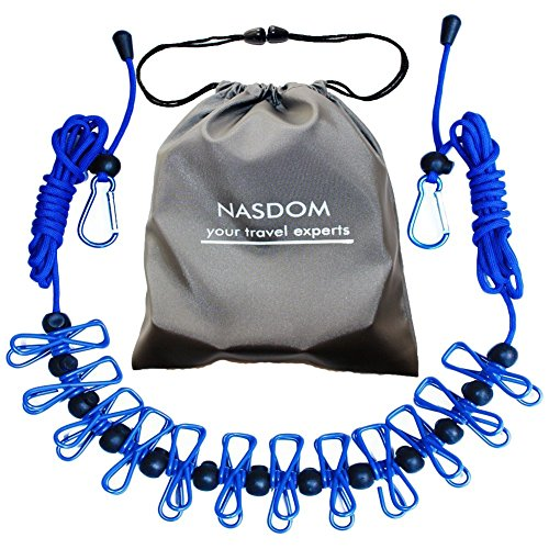 Nasdom Travel Clothesline,4m/13ft Portable Retractable Adjus