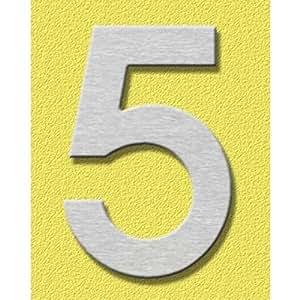 Heibi–Números para portales Midi 5, acero inoxidable