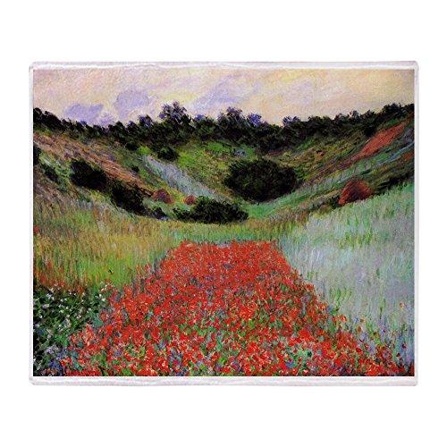 (CafePress Claude Monet Poppy Field Soft Fleece Throw Blanket, 50