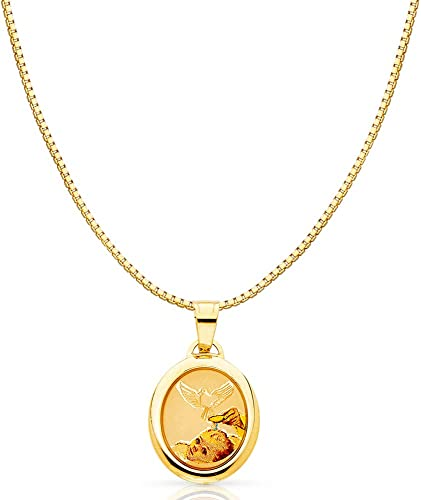 14k Yellow Gold Religious Baptism Pendant Available w// 16 Chain