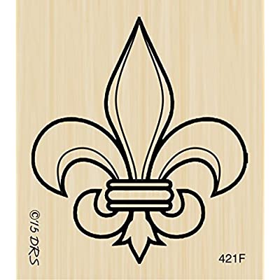 Fleur de Lis Rubber Stamp by DRS Designs: Arts, Crafts & Sewing