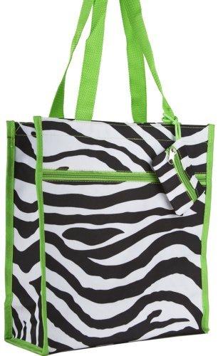 Zebra Print Tote Bag (Green) -