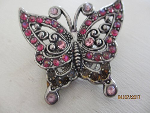Unique Beautiful Pink Rhinestone Butterfly Brooch, Stunning Vintage Pink Butterfly Pin,Rhinestone Pin,Mother of the Bride Gift,Grandma Gift