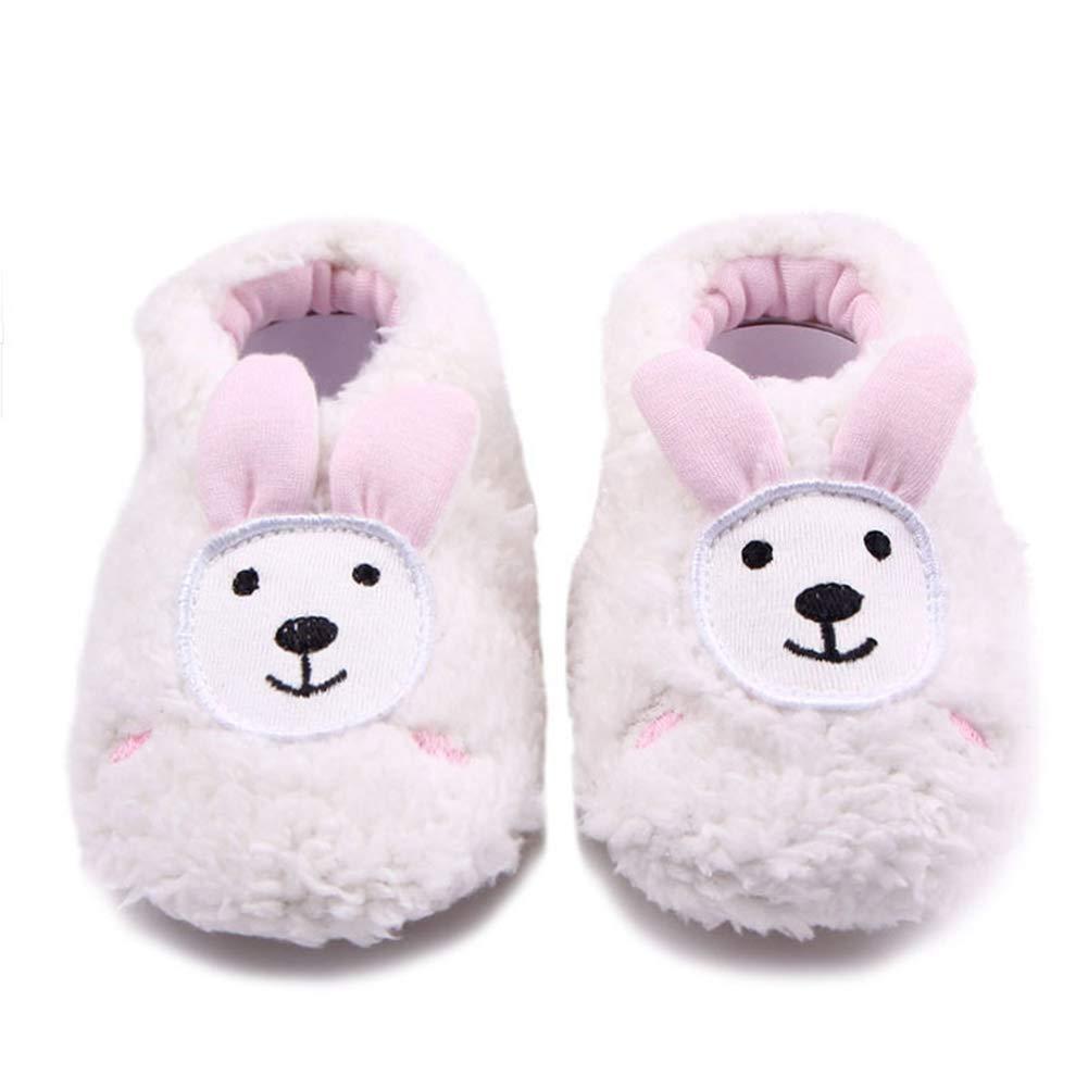yuye-xthriv Infant Baby Kid Girl Boy Rabbit Monkey Print Soft Sole Prewalker Toddler Shoes Khaki 11.5cm