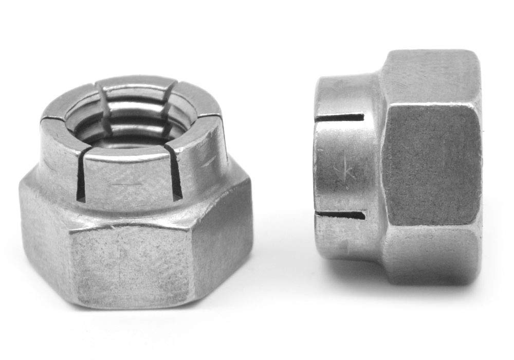5//8-11 Coarse Thread Flexloc Nut Heavy Hex Full Medium Carbon Steel CAD Plated 31FA-1011 Pk 5