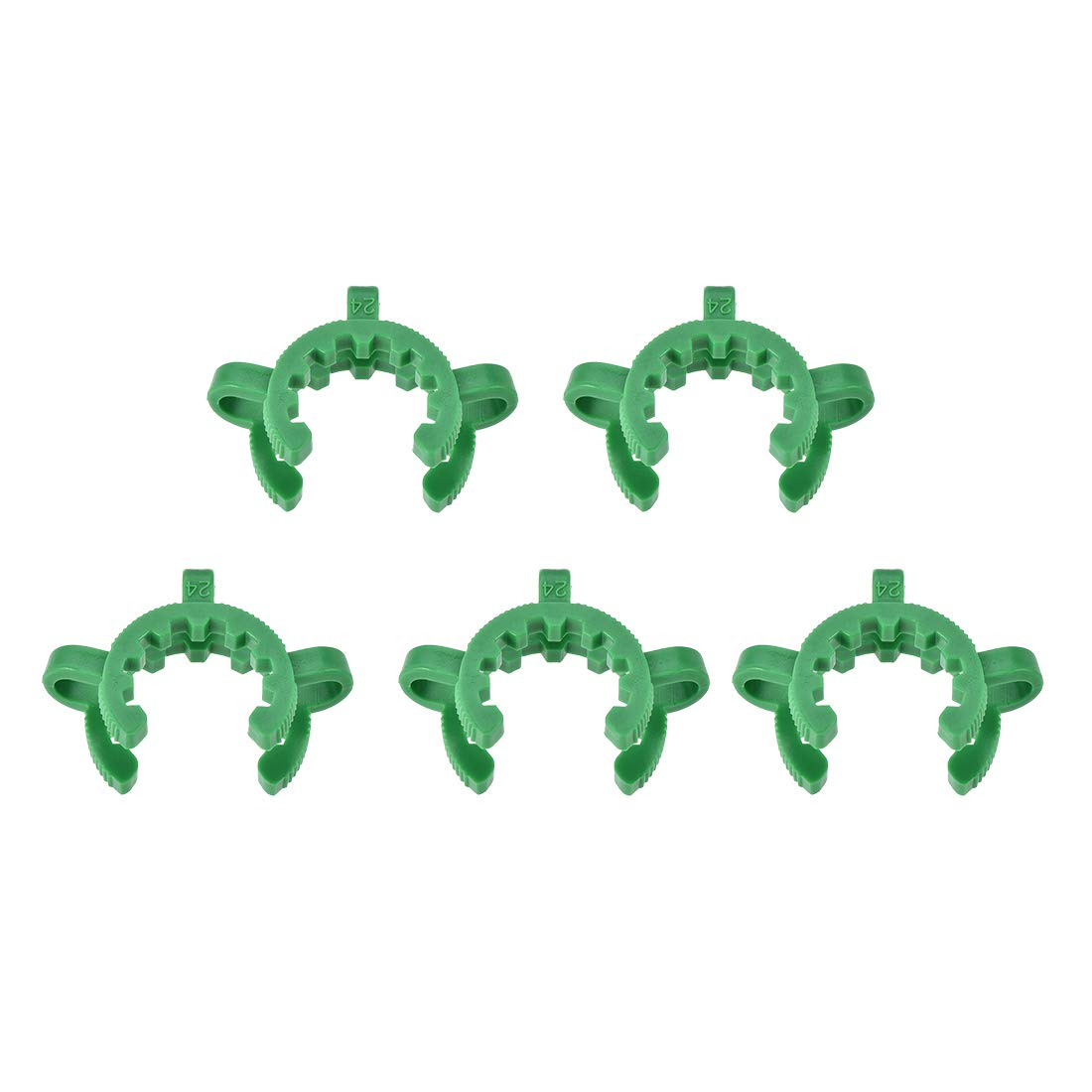 uxcell Lab Joint Clip Plastic Clamp Mounting Clips for 24//25 or 24//40 Glass Taper Joints Laboratory Connector Green 5Pcs