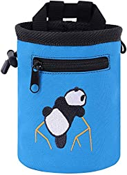 AMC(TM) New Rock Climbing Panda Design Chalk Bag with Adjustable Belt