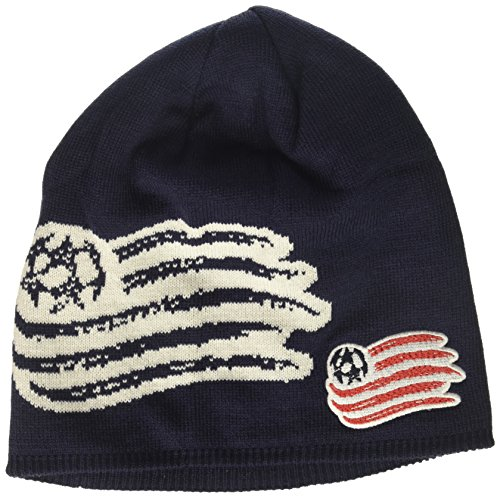 MLS New England Revolution Men's Glow in The Dark Knit Beanie, One Size, Navy