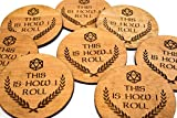 Stained Board Game Coaster Set - This Is How I Roll - 4 3.5'' Engraved Wood DND D&D Dungeons Dice