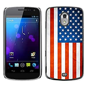 Shell-Star ( National Flag Series-USA ) Snap On Hard Protective Case For SAMSUNG Google NEXUS / I9250