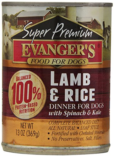 EVANGER'S Super Premium Lamb and Rice Dinner for Dogs,13-Oun
