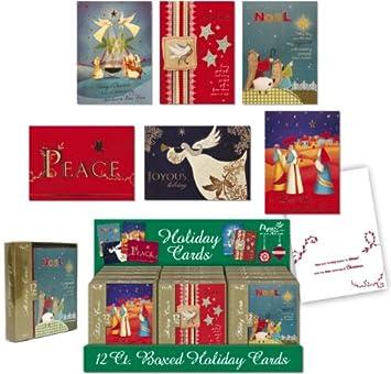 Religiöse Weihnachtskarten.Darice Im Papierbasteln Religiöse Weihnachtskarten Sortiert 4 Boxen