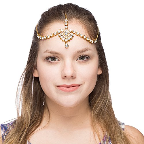 India Crafts Headbands Jewelry and hair Accessories Wedding head chain for Women and Girls