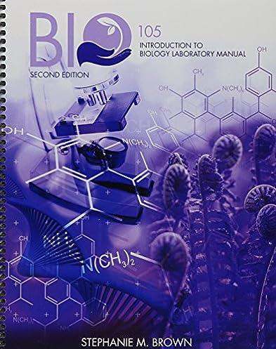 amazon com bio 105 introduction to biology laboratory manual rh amazon com Lab Bench Biology Laboratory Manual Answers