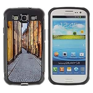Suave TPU GEL Carcasa Funda Silicona Blando Estuche Caso de protección (para) Samsung Galaxy S3 III I9300 / CECELL Phone case / / Street View Old Town City Buildings Road /