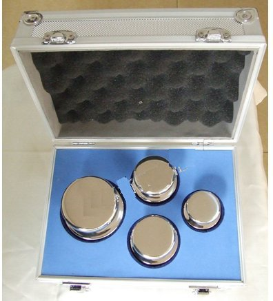 Price comparison product image Stainless Steel 4 Piece Class M1 Balance Scale Calibration Weight Kit Set,  1KG to 5KG(1kg 2kg 5kg