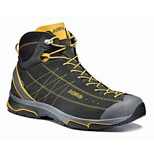 Asolo Nucleon Mid GV Hiking Boot - Men's Graphite/Yellow, 12.0 ()
