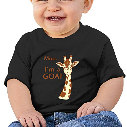 [KIDDOS Infants &Toddlers Baby's Pretty Cool Giraffe Tshirts 24 Months Black] (Alvin And The Chipmunks Costumes For Kids)