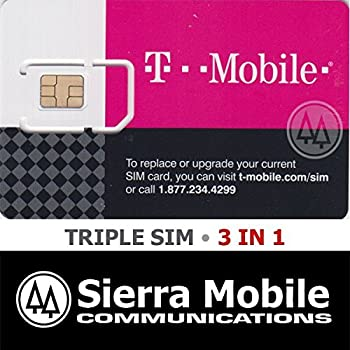 T mobile Triple Cut Sim Card. T-Mobile Prepaid SIM Card Unlimited Talk, Text, and Data in USA with 5GB Data in Canada and Mexico for 30 days. by T-Mobile. $ $ 41 52 Prime. FREE Shipping on eligible orders. More Buying Choices. $ (8 new offers) out of 5 stars Product Features.