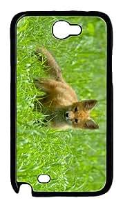 thinnest case cute fox cub hd PC Black case/cover for samsung galaxy N7100/2