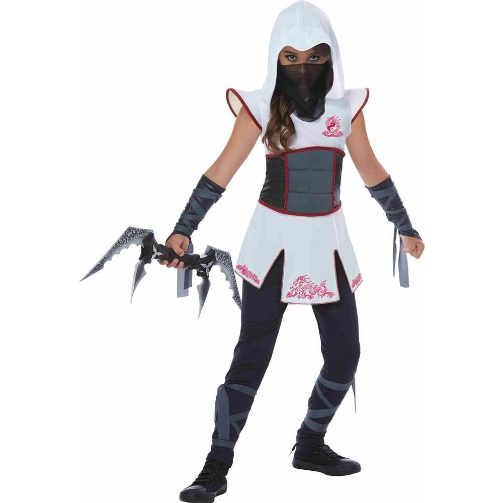 Girls White Ninja Fancy dress costume X-Large: Amazon.es ...