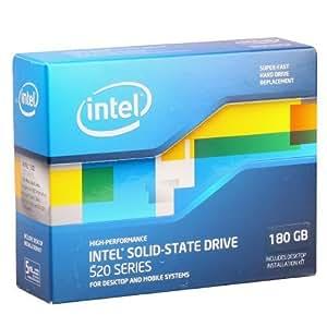 Intel 520 Series Solid-State Drive 180 GB SATA 6 Gb/s 2.5-Inch - SSDSC2CW180A3K5 (Reseller Kit)