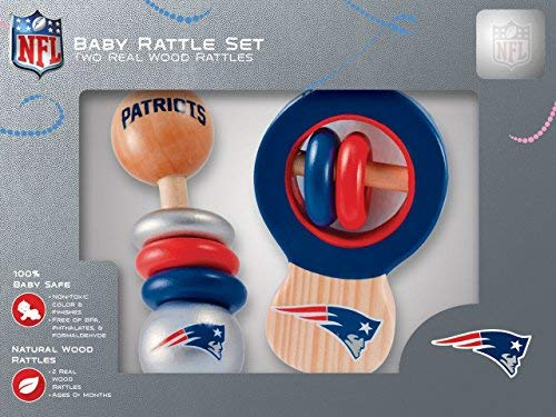 NFL New England Patriots Baby Rattle Set - 2 Pack