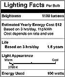 [4 Pack] Simba Lighting Halogen E11 T4 100 Watt 1100lm 120 Volt Light Bulb for Chandeliers, Pendants, Table Lamps, Cabinet Lighting, Mini-Candelabra Base, 100W JD 110V 120V Warm White 2700K Dimmable