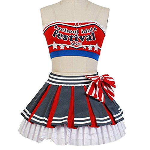 UU-Style LoveLive! Maki Nishikino Cheerleaders Uniform Cosplay Costume
