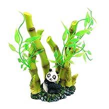 Dimart Artificial Resin Lifelike Lovely Panda Bamboo Aquarium Ornaments for Fish Tank Green