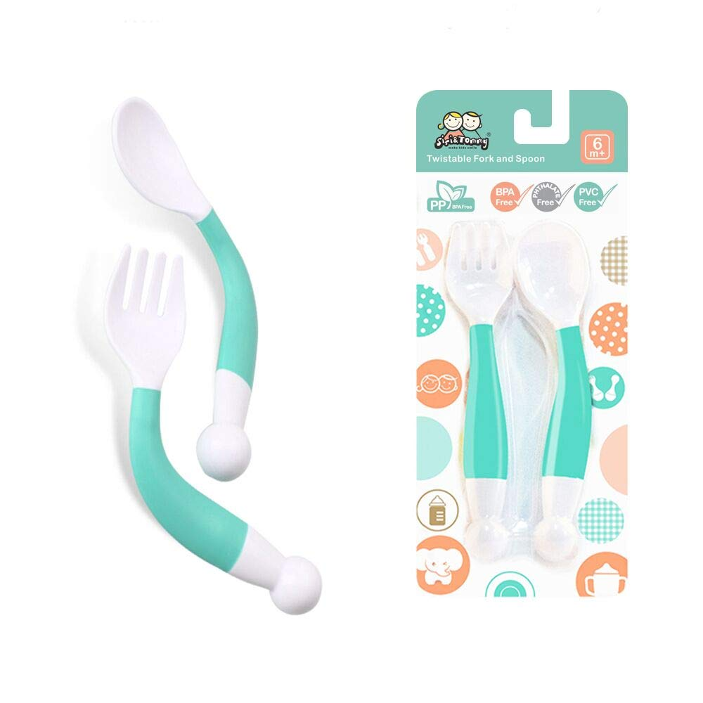 Reusable Baby Food Squeeze Pouch Spoon (1 Set in Green)