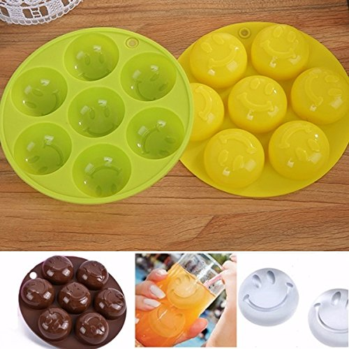 Candy Chocolate - Smile Silicone Ice Mold Soap Cake Candy Chocolate Cube - Free Pen Eggs Melting Butter Ghirardelli Dark Discs Chips Mix -